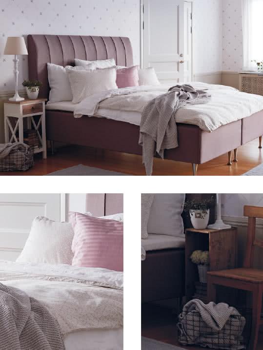 Inspiration för ett charmigt sovrum i rosa shabby chic