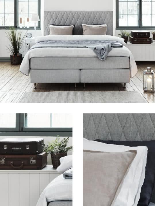 Modernt sovrum med lantlig känsla