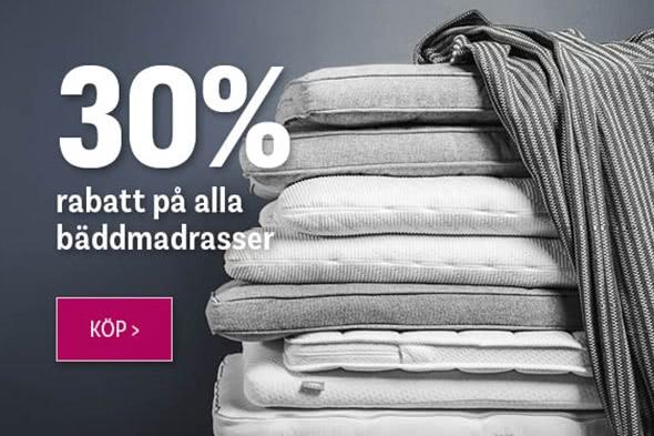 30% rabatt på alla bäddmadrasser